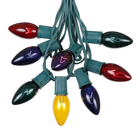 c9 green wire light string sets novelty lights inc