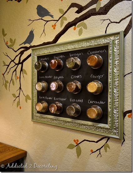 diy magnetic chalkboard spice rack space saving framed magnetic chalkboard spice rack to hang