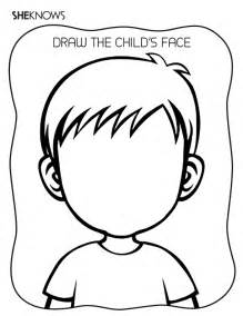 Kids Halloween Craft - create the face page free printable coloring pages
