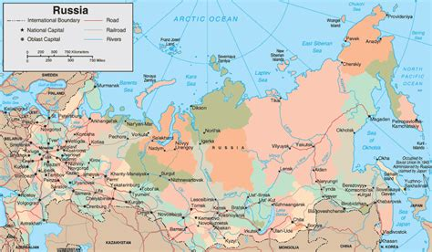 map of russia with cities in maps of america