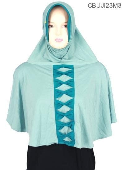 Syar I Pita jilbab bergo syar i amanah pita depan jersey