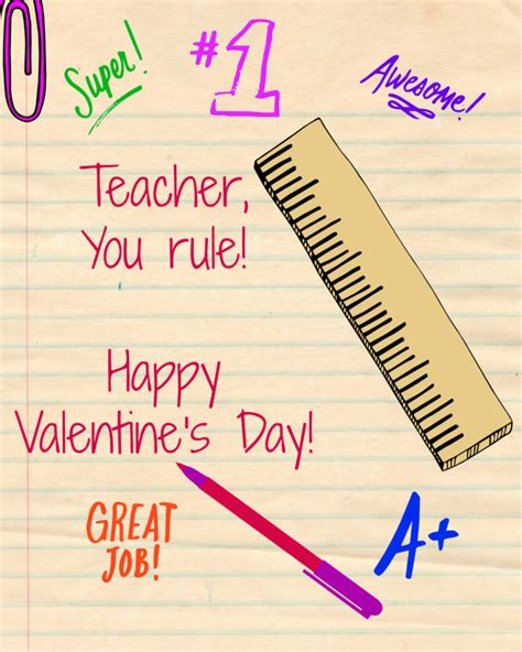 valentines card greetings for teachers valentines day card family journal