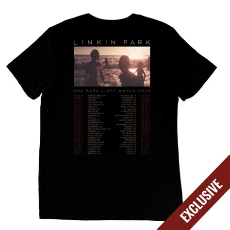 one more light tour 2017 one more light world tour tee linkin park store