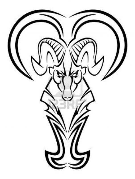 aries tribal tattoos tribal zodiac aries design for