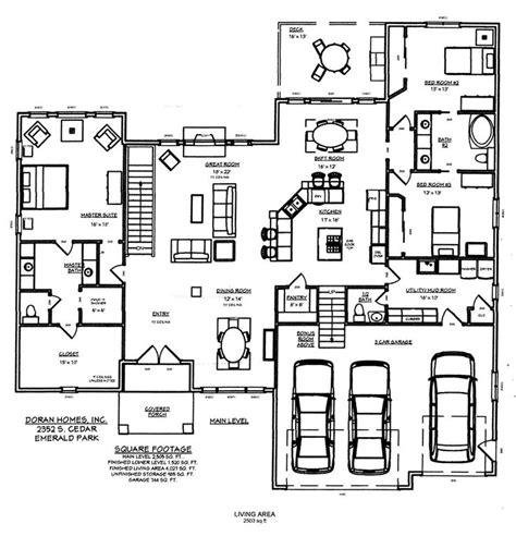 emerald park floor plan doran homes blueprints for emerald park project