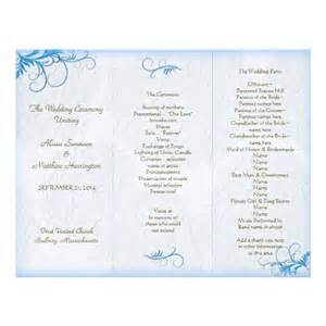 wedding bulletin templates best photos of layout of church programs printable