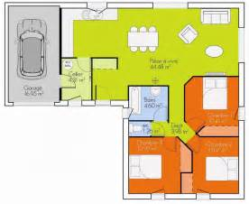 plan 3 chambres plain pied