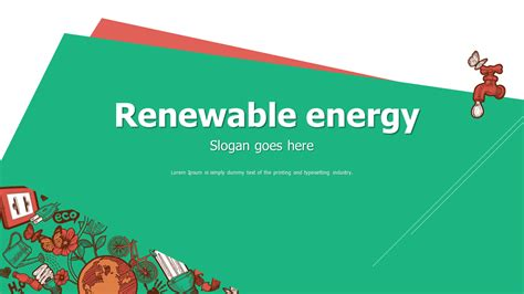 green energy powerpoint template renewable energy powerpoint template wide goodpello