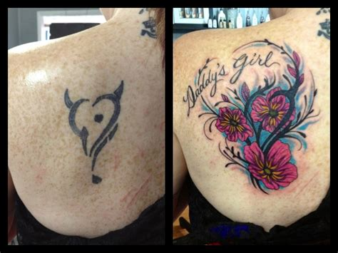 small cover up tattoos for girls cover up before and after flowers with s