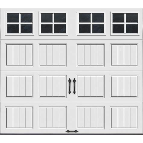 9 Ft Garage Door Clopay Gallery Collection 8 Ft X 7 Ft 12 9 R Value Intellicore Insulated White Garage Door