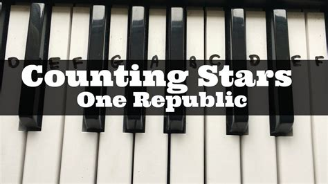 counting stars keyboard tutorial easy counting stars one republic easy keyboard tutorial