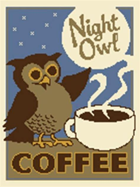 owl coffee new year owl coffee cross stitch