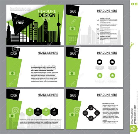 design elements report presentation templates infographic elements template flat