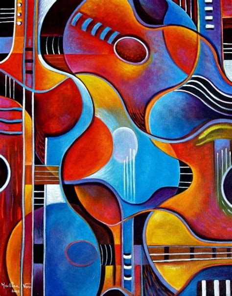 cubist paintings guitar original painting by marlina vera cubist modern
