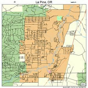 map of la pine oregon la pine oregon map 4141050