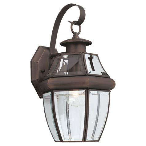 Sea Gull Lighting Fixtures Sea Gull Lighting Lancaster 1 Light Antique Bronze Outdoor
