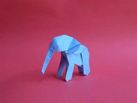 Baby Elephant Origami - origami baby elephant by orestigami on deviantart