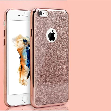 bling silicone glitter shockproof cover glass for iphone 7 6 6s plus 5s ebay