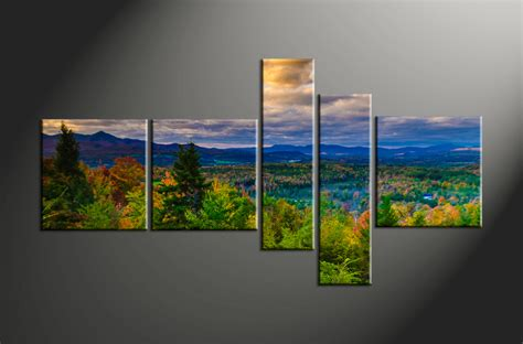 Landscape Pictures Canvas 5 Green Canvas Landscape Nature Artwork