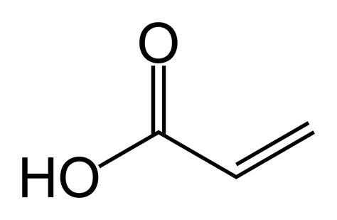 Acrylic Acid file acrylic acid skeletal png
