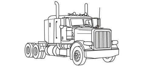 big rig coloring pages truck coloring pages truck