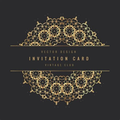 vintage invitations vintage invitation card vector free