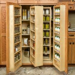 big vertical shaped slim pantry cabinet from light brown