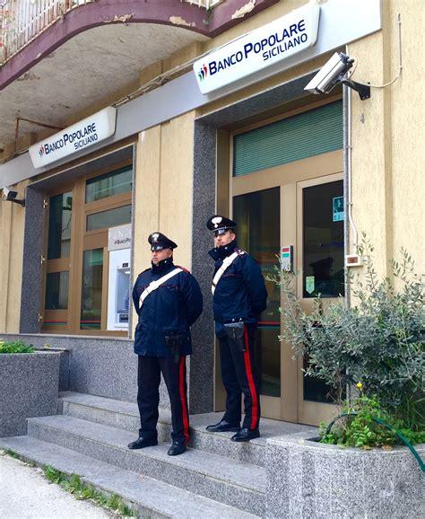 banco popolare siciliano siracusa tentano il colpo in a salemi arrestati tre giovani