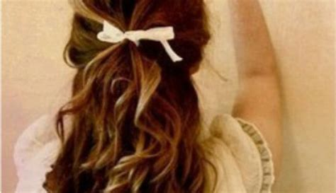 half up half down hairstyles with ribbon half up half down wedding hair brunette ribbon h a i