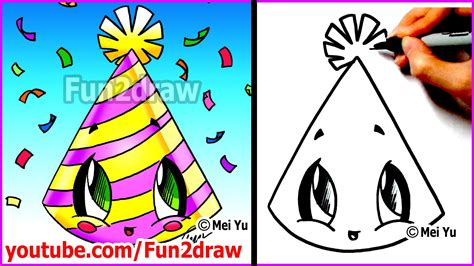 how to draw a new year easy things to draw new years hat mei yu s new