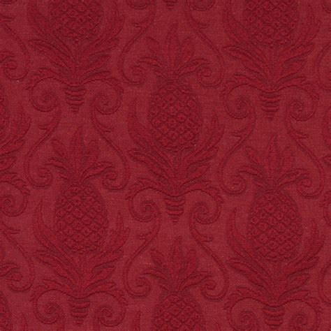 matelasse upholstery fabric red pineapples woven matelasse upholstery grade fabric by