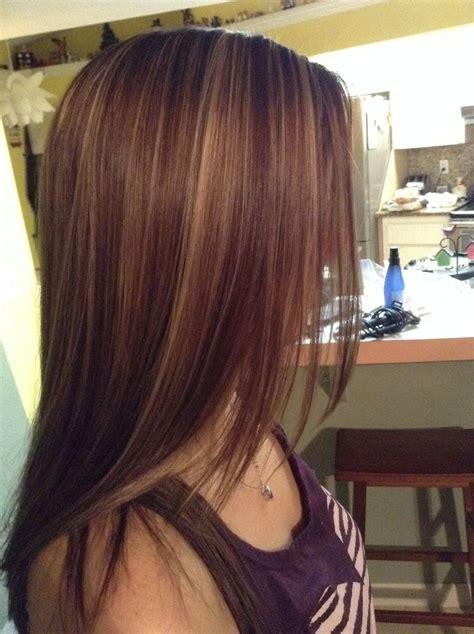 Meduim Auburn Brown Hair With Highlights | shades of auburn hair color choose garnier nutrisse light