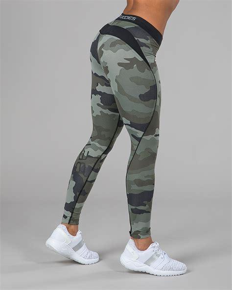 Legging Senam Better Bodies Camo Printed Made In better bodies womens camo tights green camoprint tights no