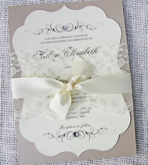 Wedding Invitations Vintage Lace by Vintage Lace Wedding Invitation Vintage Wedding