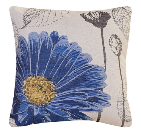 Aster Square by Blue Aster Decorative Square Throw Pillow 18 Quot