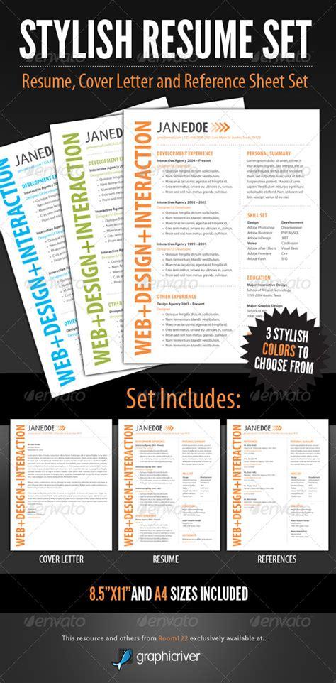 stylish resume stylish resume template set print ad templates