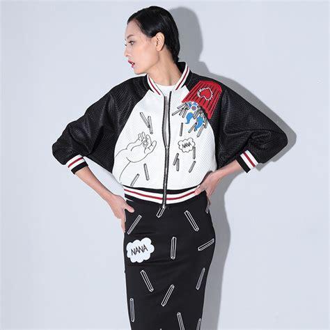 Jfashion S Basic Parka Jacket 12 embroidery basic jackets fashion sleeve black jacket coat winter floral