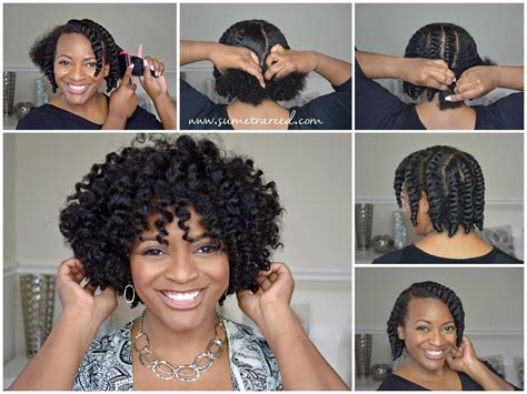 show me some flat twist style on natural black hair easy chunky flat twist out tutorial for natural hair