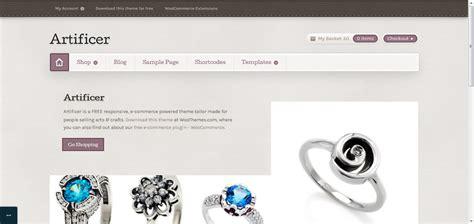 theme wordpress free responsive ecommerce artificer free ecommerce wordpress theme