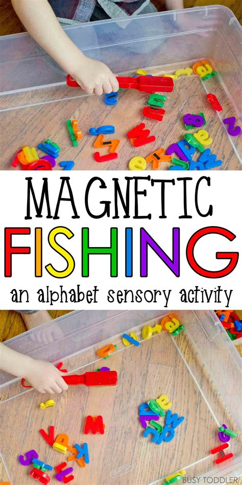 sensory table for toddlers magnetic alphabet fishing sensory activities activities