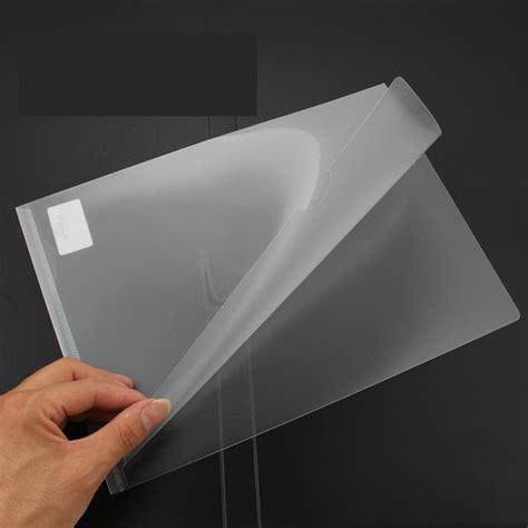 Transparent A4 Folder top grade customized a4 size transparent sheet l shape