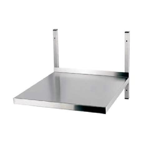 ced s s heavy duty microwave shelf 600mm x 600mm stainless
