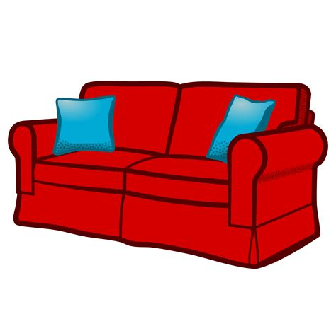 free loveseat clipart sofa coloured