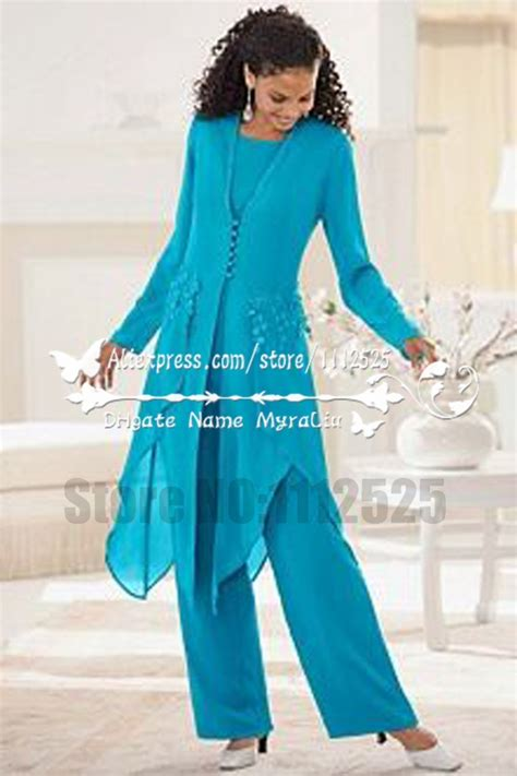 AMP1113 Glamorous blue chiffon mother of the birde pant