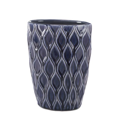 Discount Vase by Blue Wide Vase Wholesale At Koehler Home Decor
