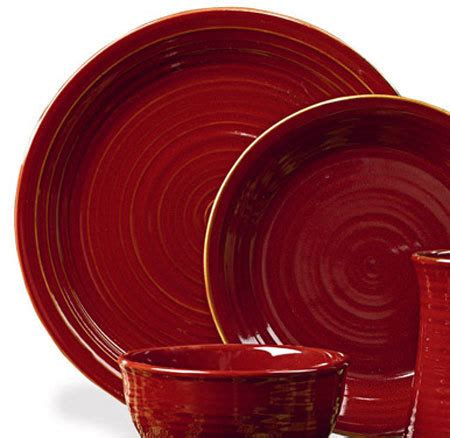 aspen red dinner plates set of 4 by park designs