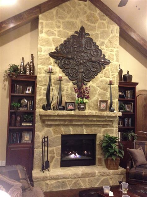 decorate  rustic fireplace mantel decor indoor