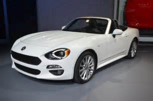 Fiat Spider 124 New Fiat 124 Spider Shines From The L A Auto Show Floor