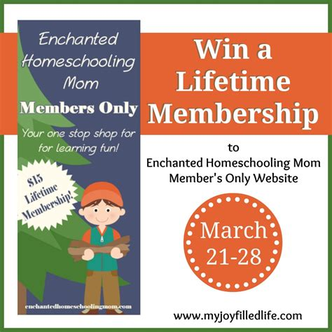 Mom Giveaway - enchanted homeschooling mom s member s only website blog birthday giveaway my joy