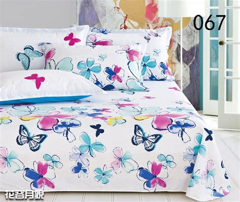 butterfly bedding aliexpress buy butterfly flowers linens